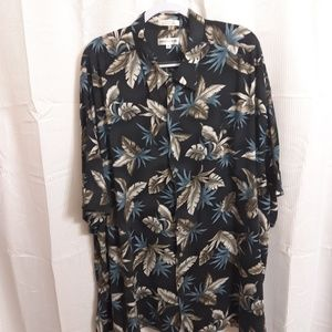Pierre Cardin Short Sleeve Button Up Floral Shirt